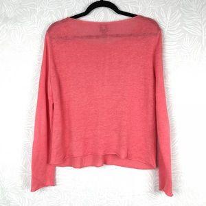 Eileen Fisher Sweaters - EILEEN FISHER 100% linen pink sweater T24